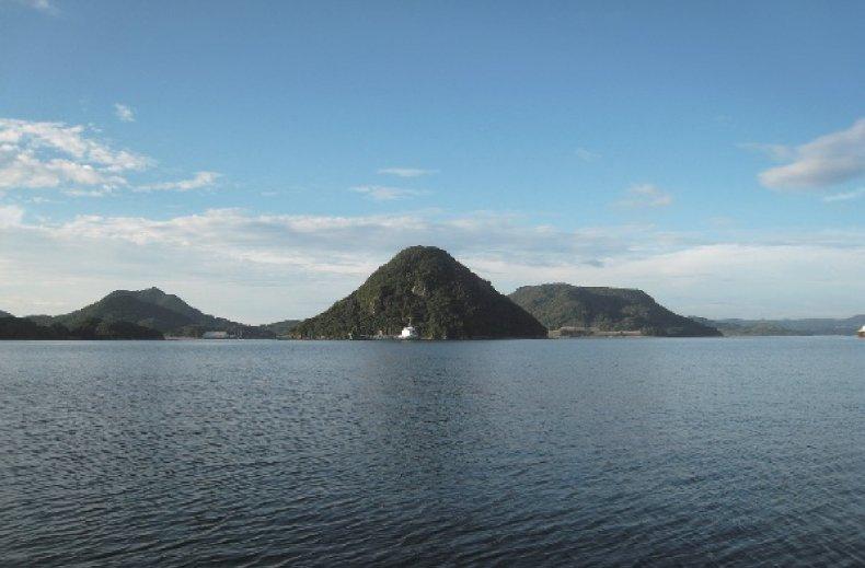針尾島の遠景