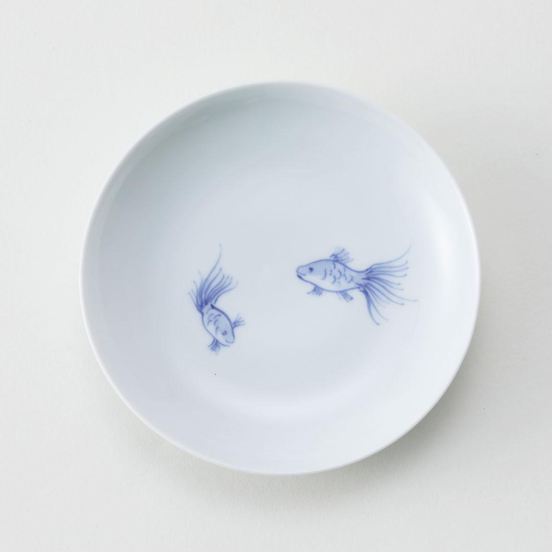 金魚シリーズ豆皿(2匹)