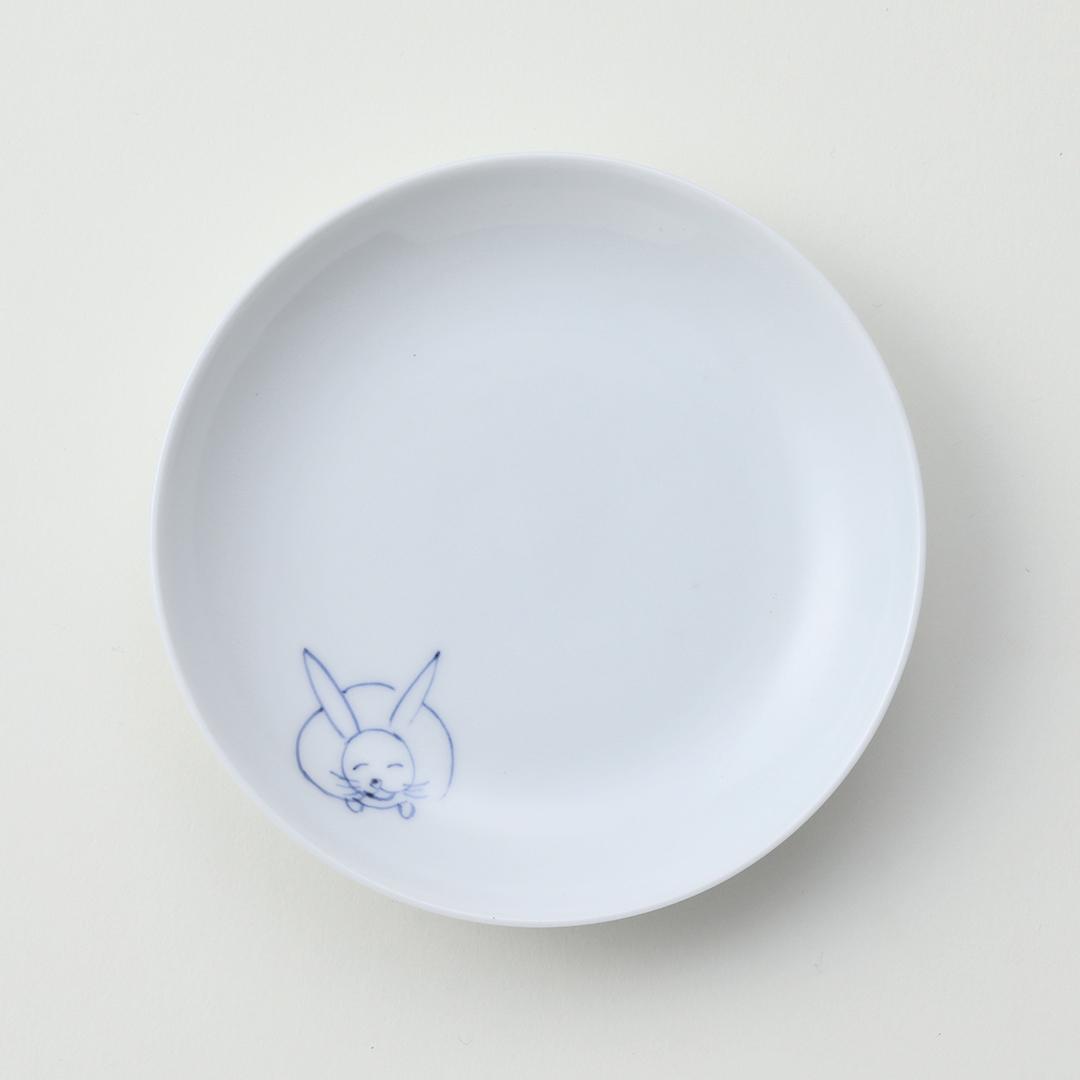 うさぎ紋豆皿