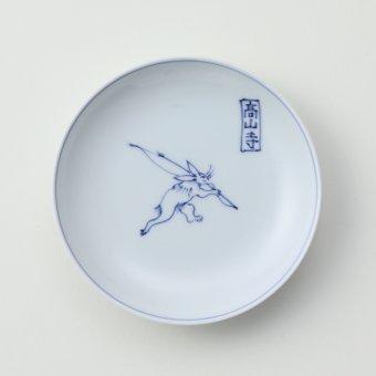 鳥獣戯画豆皿