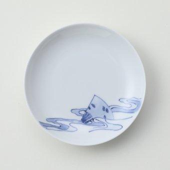 流水扇豆皿