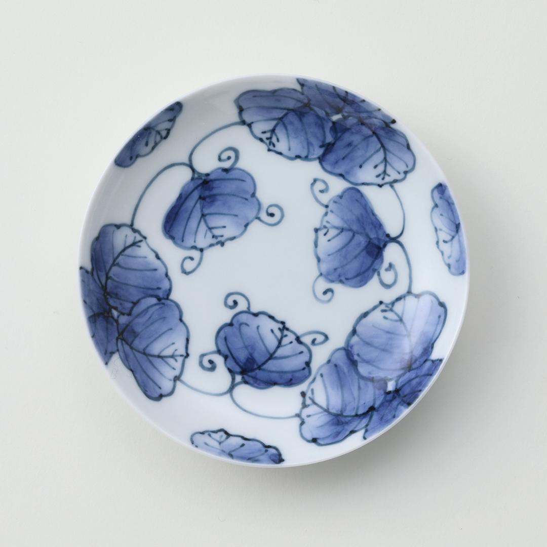 つた絵豆皿