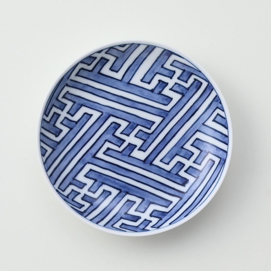 綸子絵豆皿