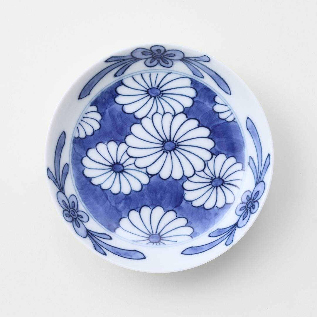 菊柄見込豆皿