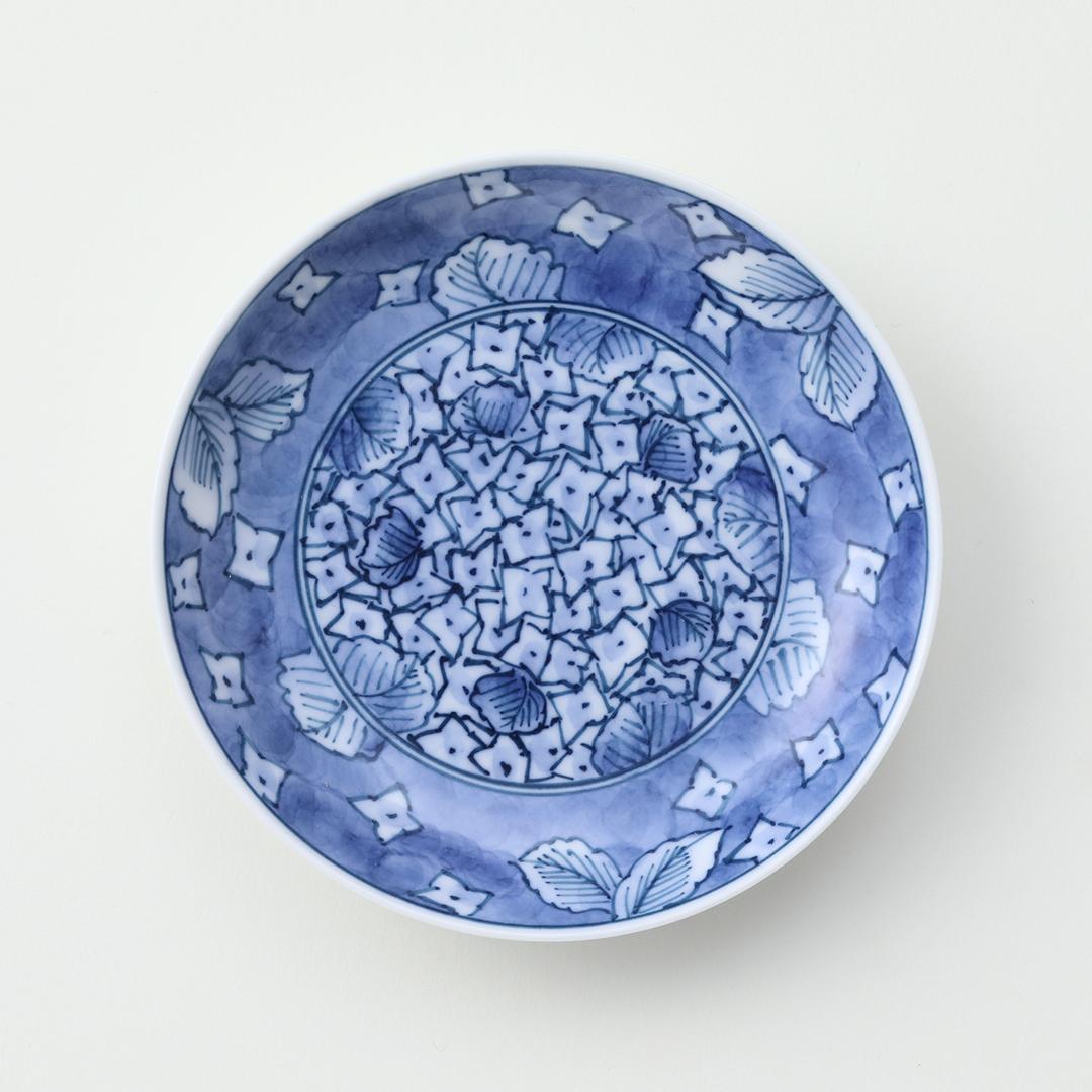 紫陽花絵豆皿