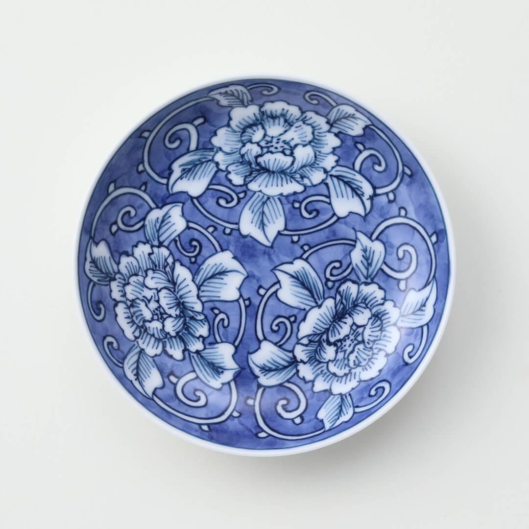 牡丹絵外濃豆皿