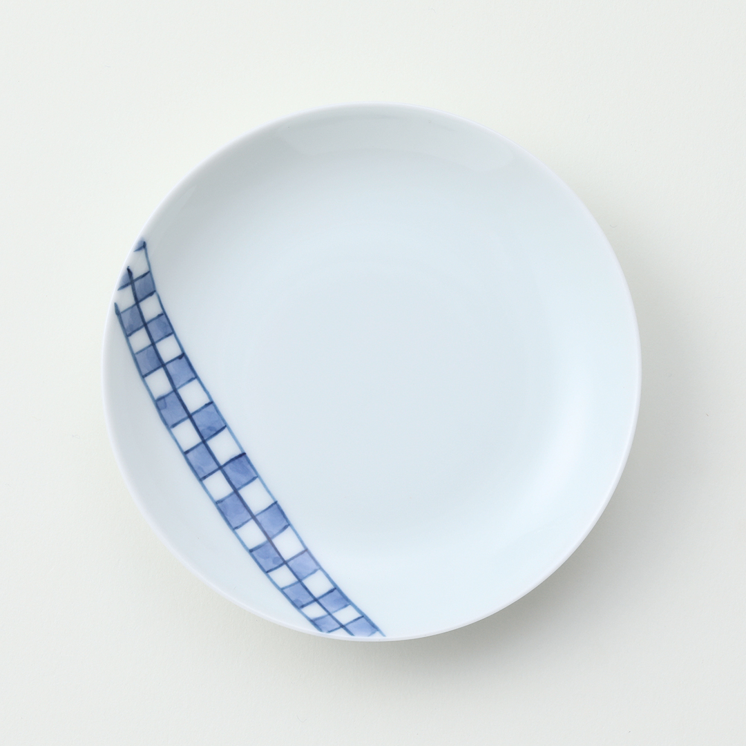 市松紋豆皿