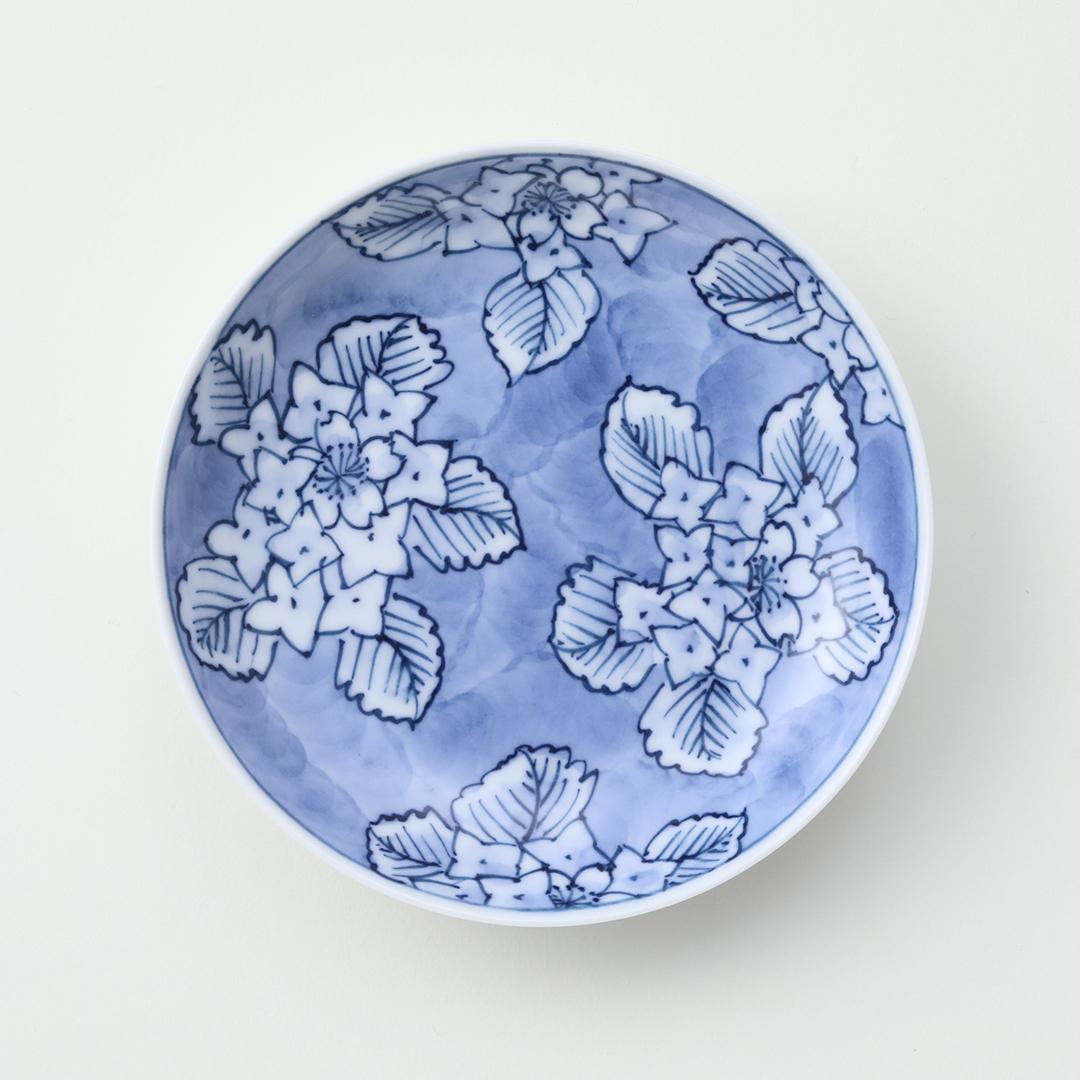散し紫陽花豆皿