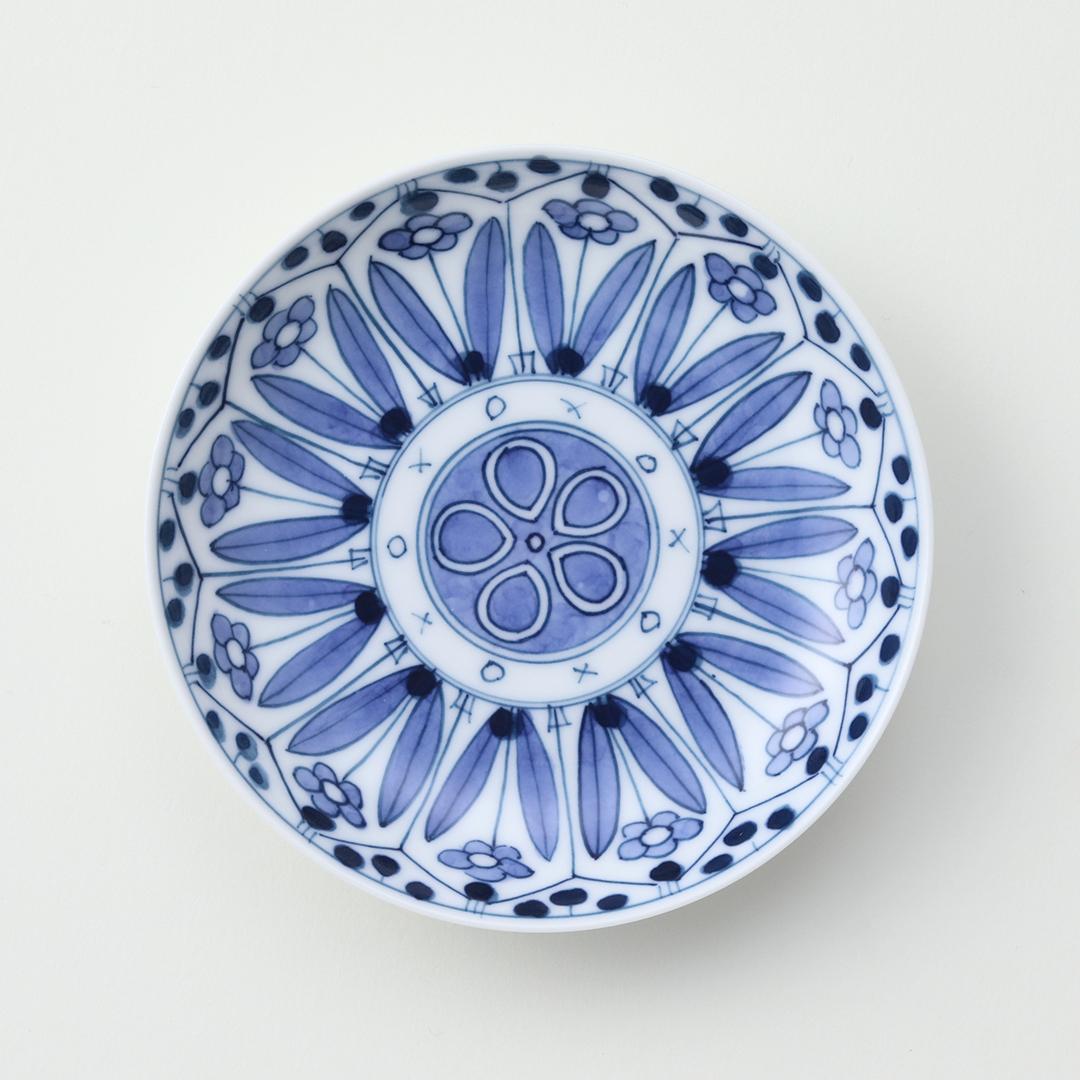 花柄絵豆皿豆皿