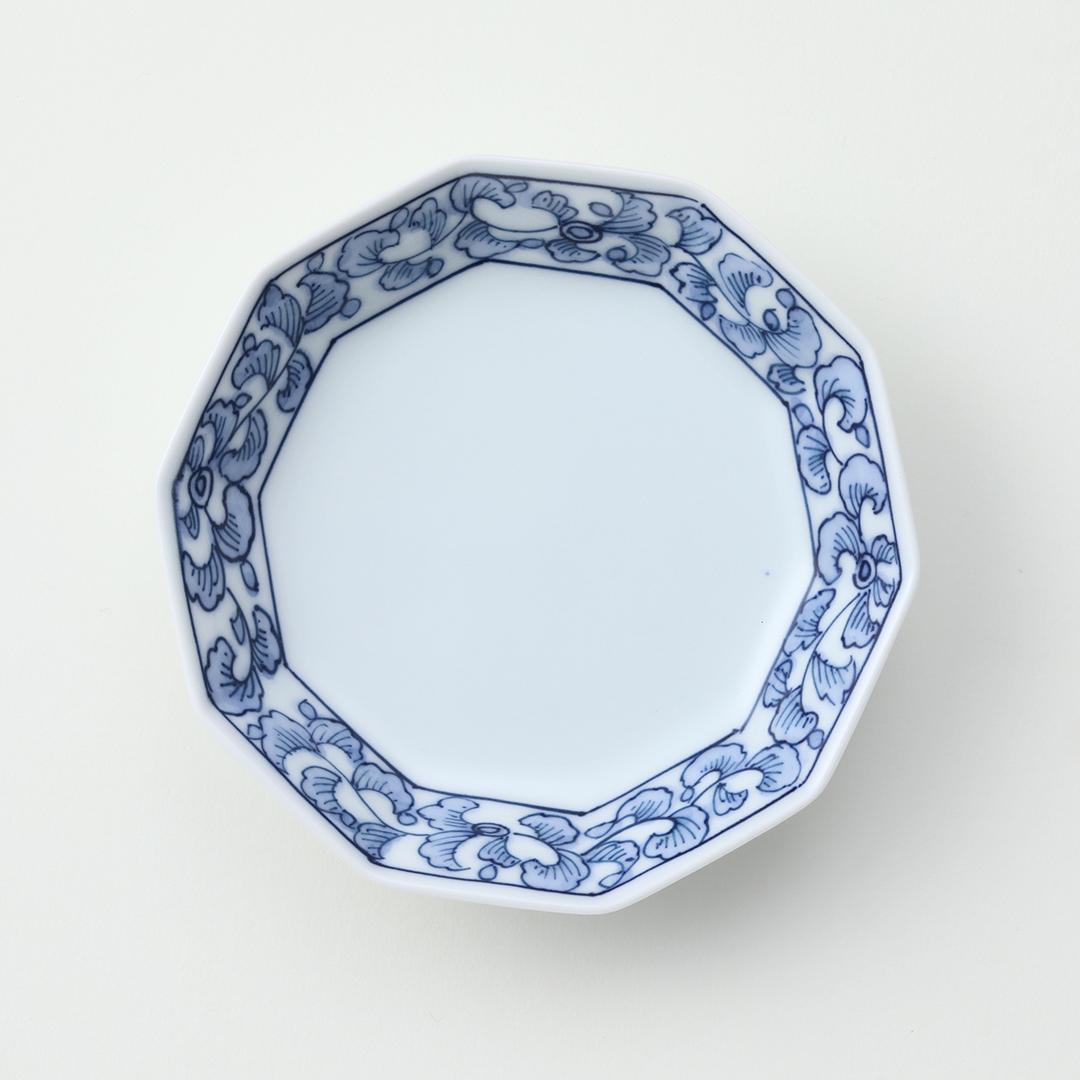 渕唐草絵豆皿
