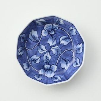 花柄外濃豆皿