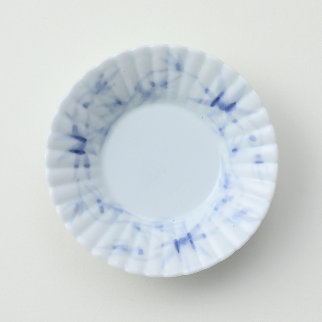 一筆絵豆皿