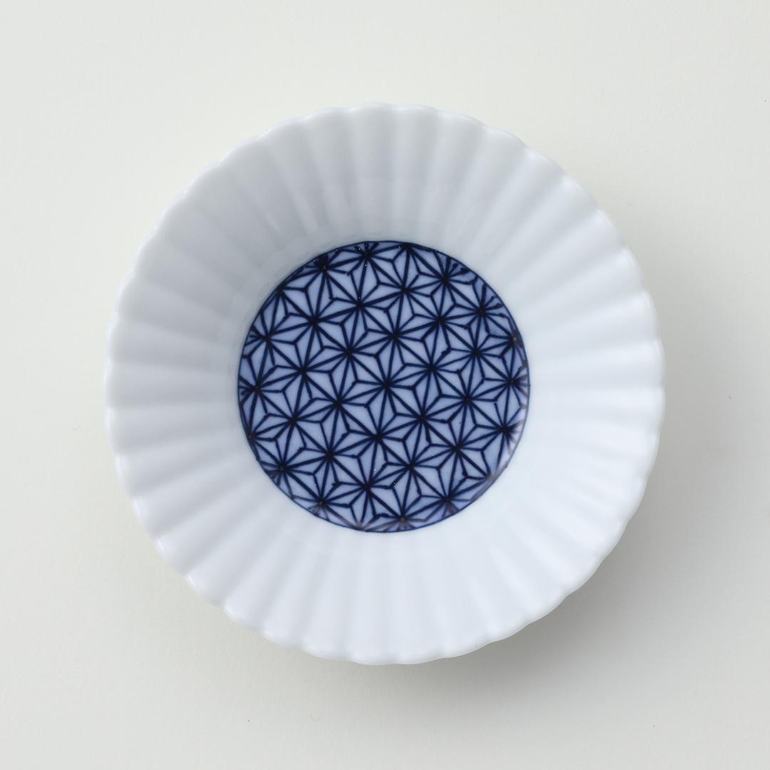 麻の葉絵豆皿