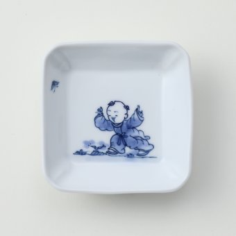 唐子絵豆皿