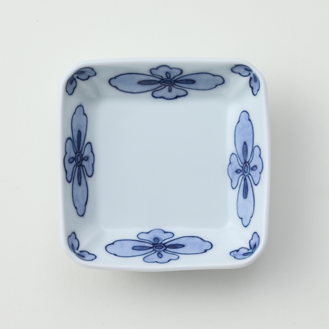 花柄絵豆皿
