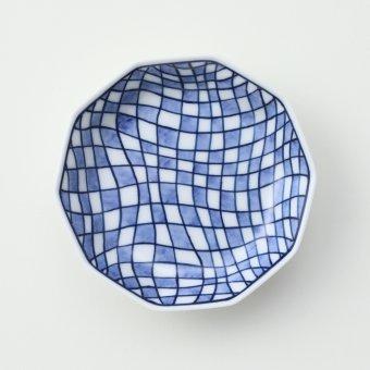 変形市松絵豆皿
