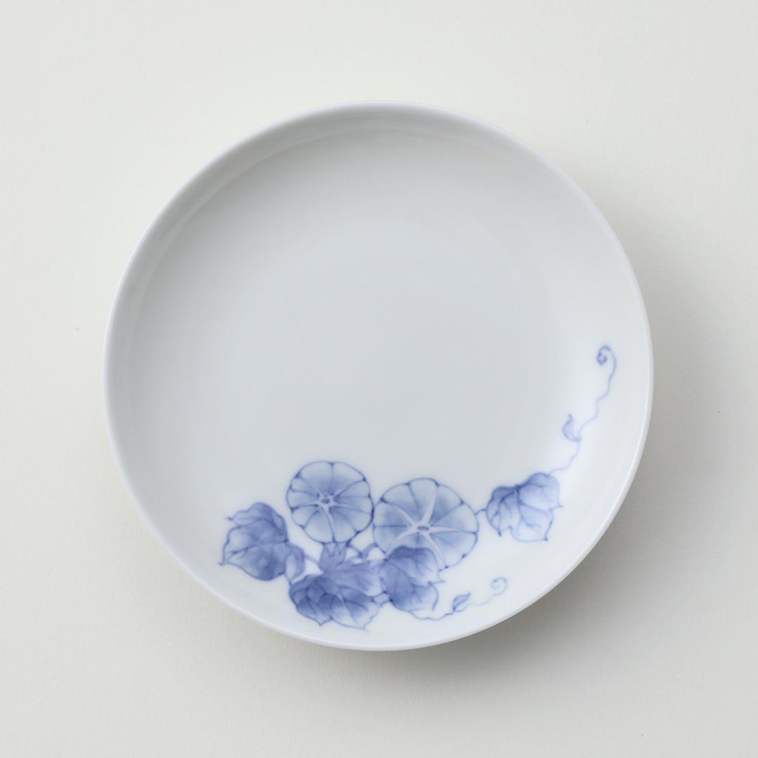 朝顔文豆皿
