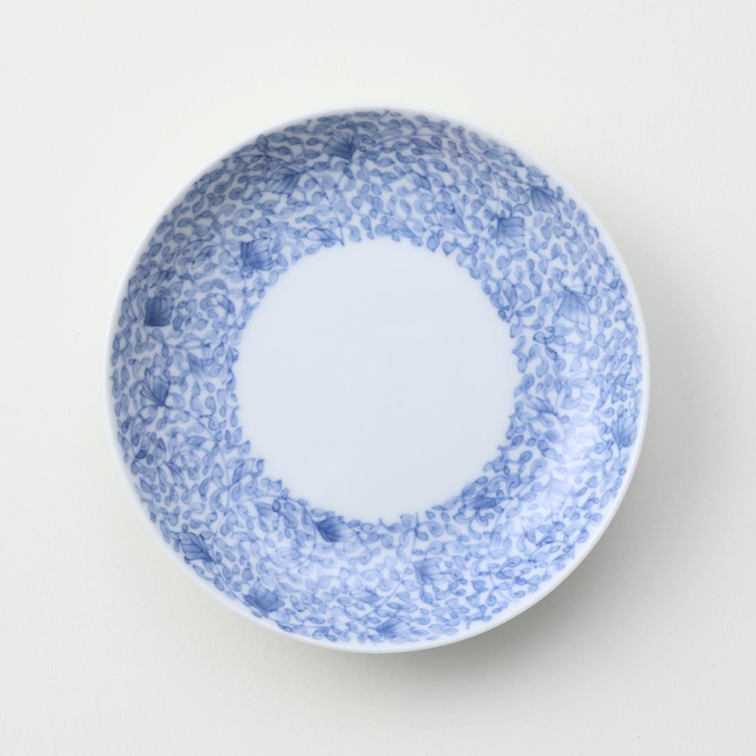 牡丹唐草文豆皿(外絵)