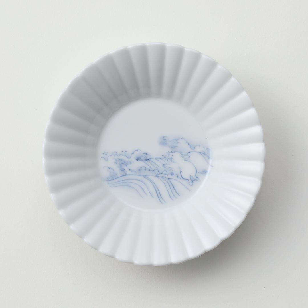 波兎文豆皿