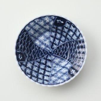祥瑞捩り文豆皿(全面)