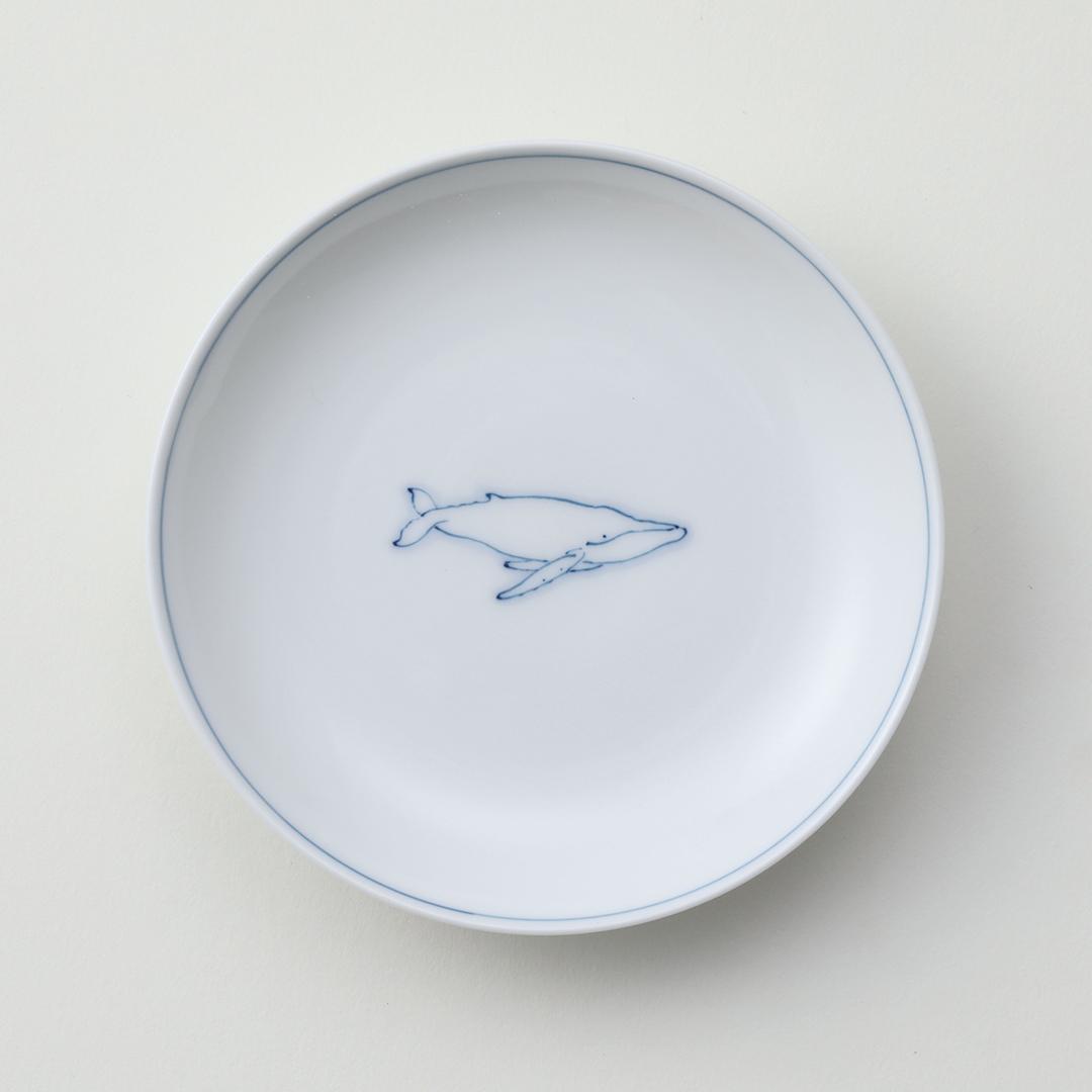 線鯨ザトウ豆皿