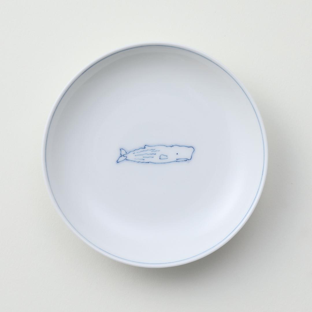 線鯨マッコウ豆皿
