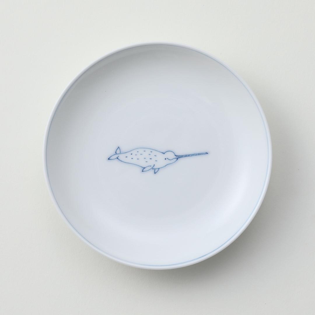 線鯨イッカク豆皿
