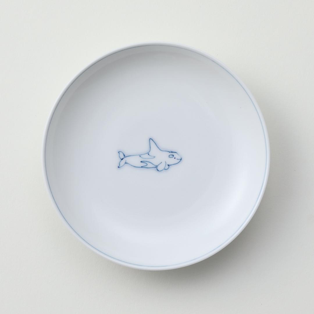 線鯨シャチ豆皿