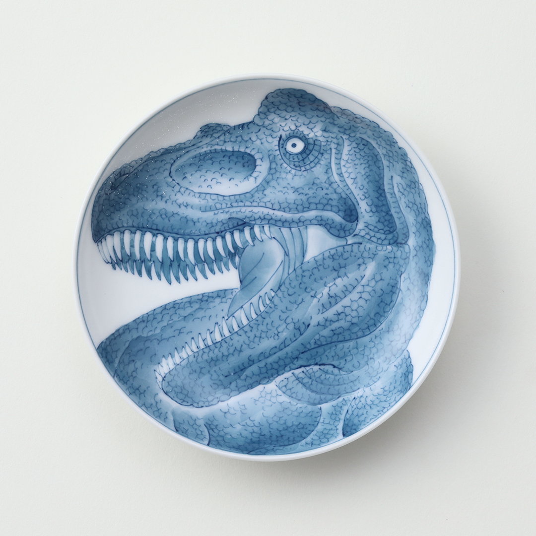 濃恐竜ティラノサウルス豆皿