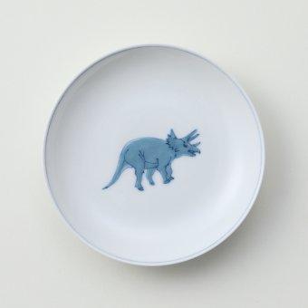 濃色盛恐竜スプトラ豆皿