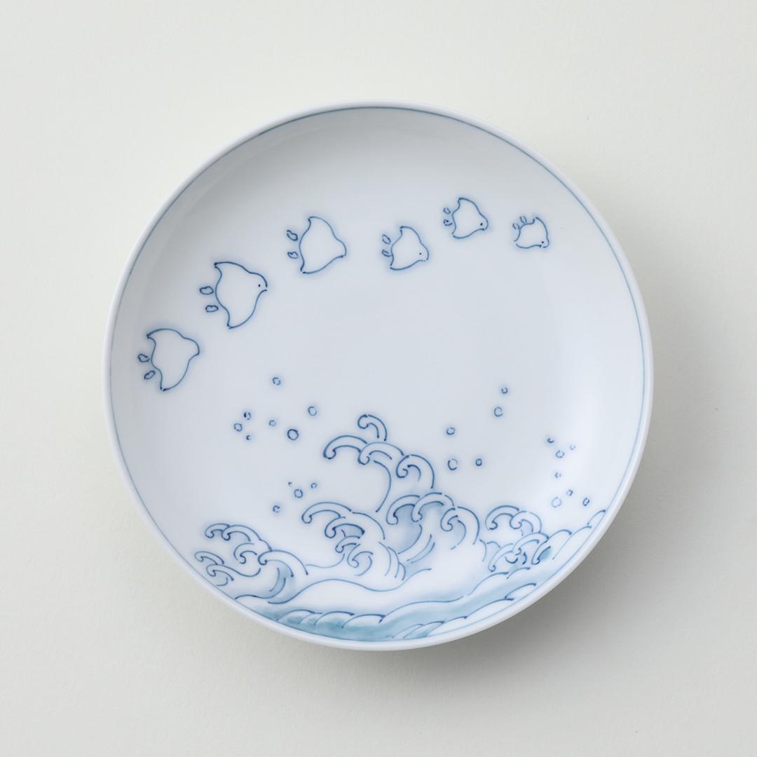 波千鳥豆皿