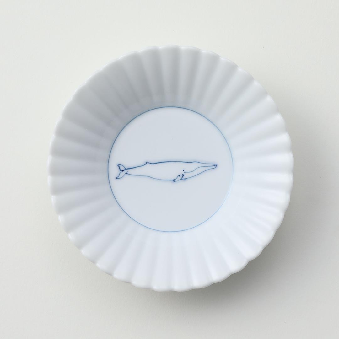 線鯨ナガス豆皿