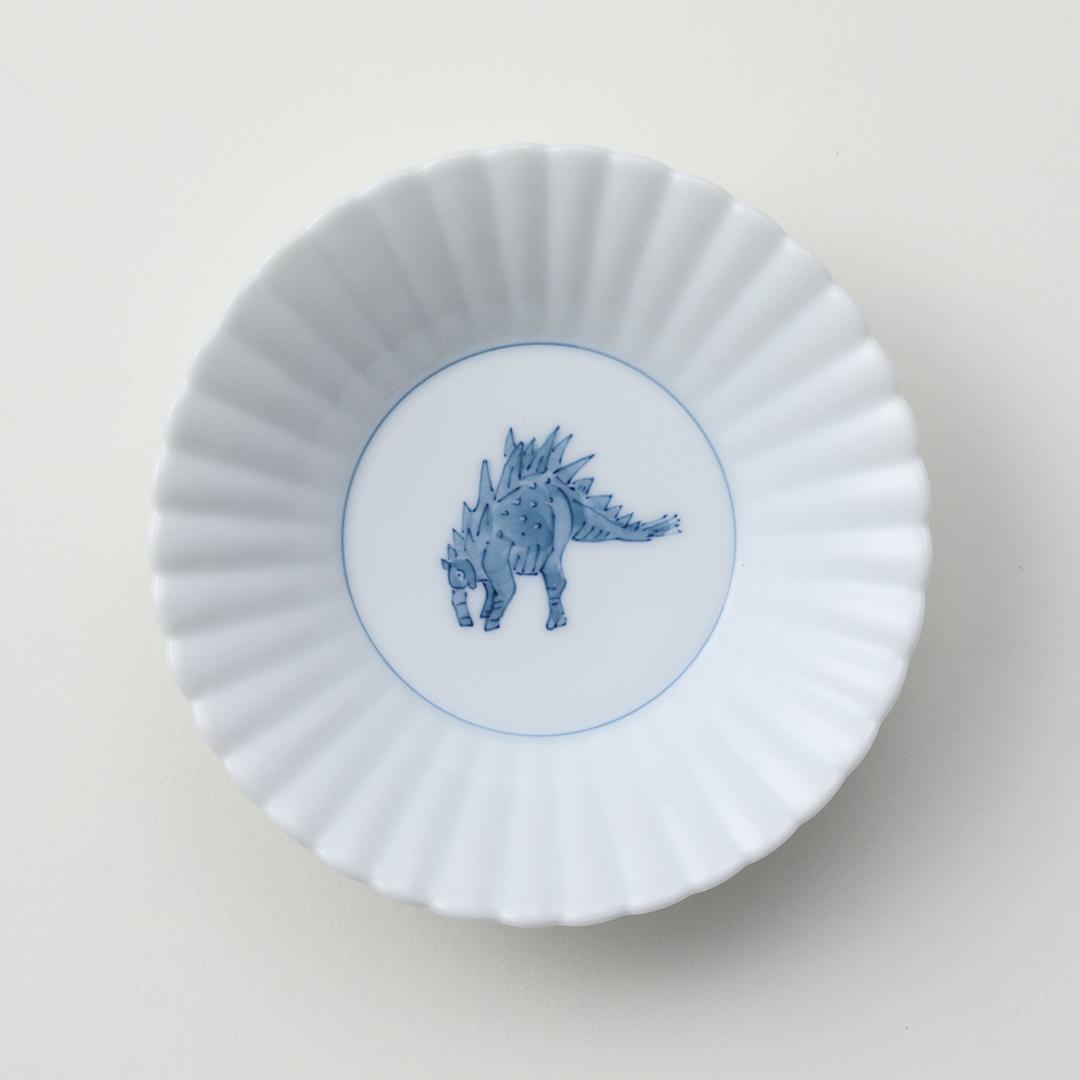 濃恐竜ステゴサウルス豆皿