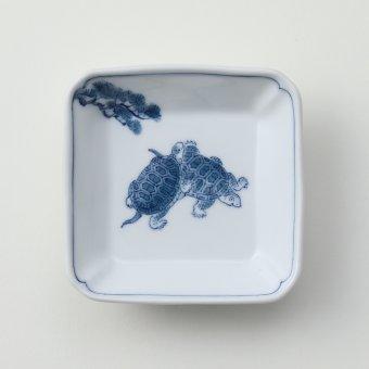 松と亀豆皿B