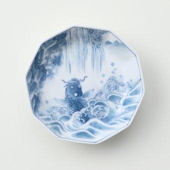 鯉の滝のぼり豆皿