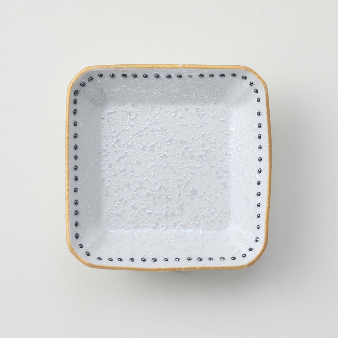 黒水玉ラスター豆皿