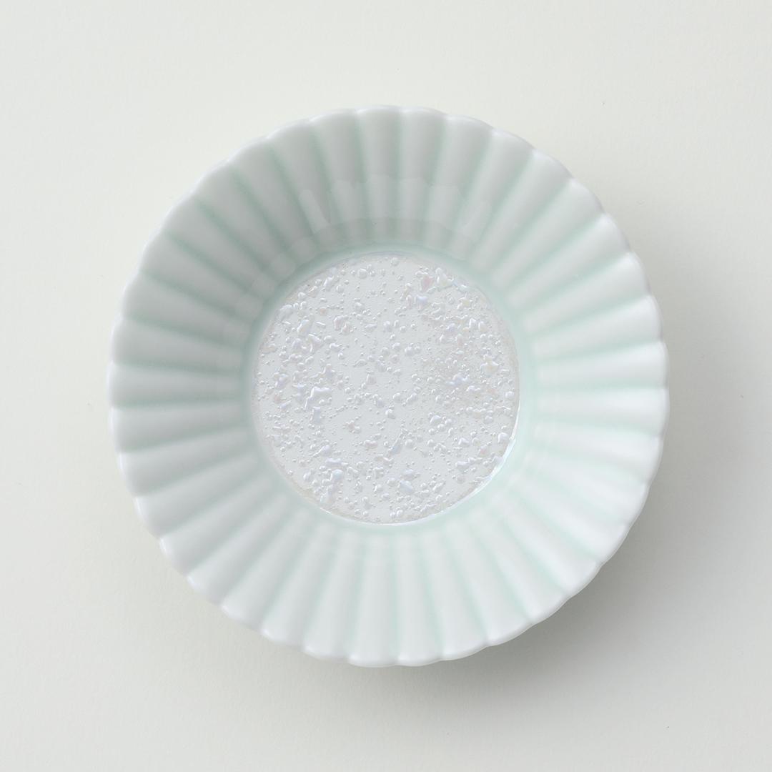 新青磁ラスター豆皿