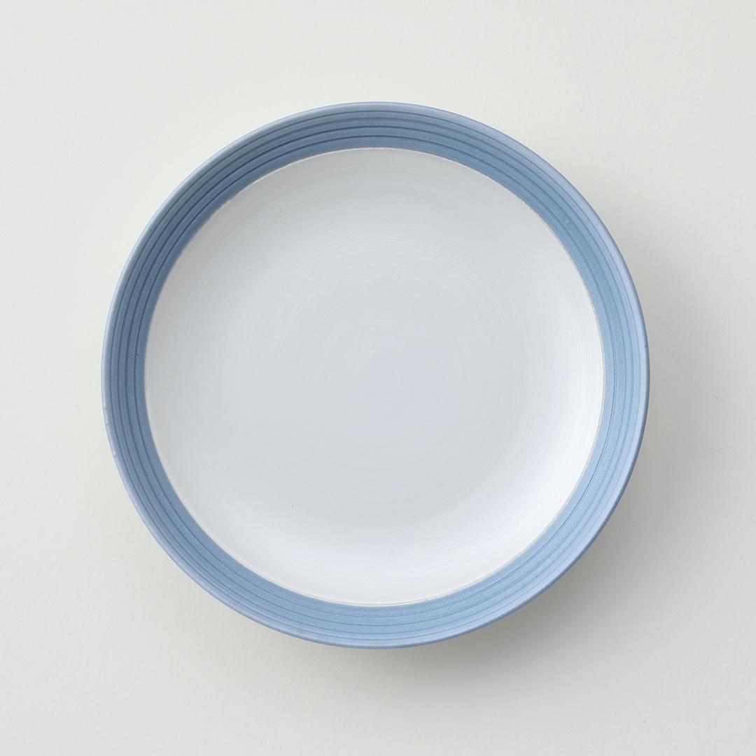 太白線段ブルー巻豆皿
