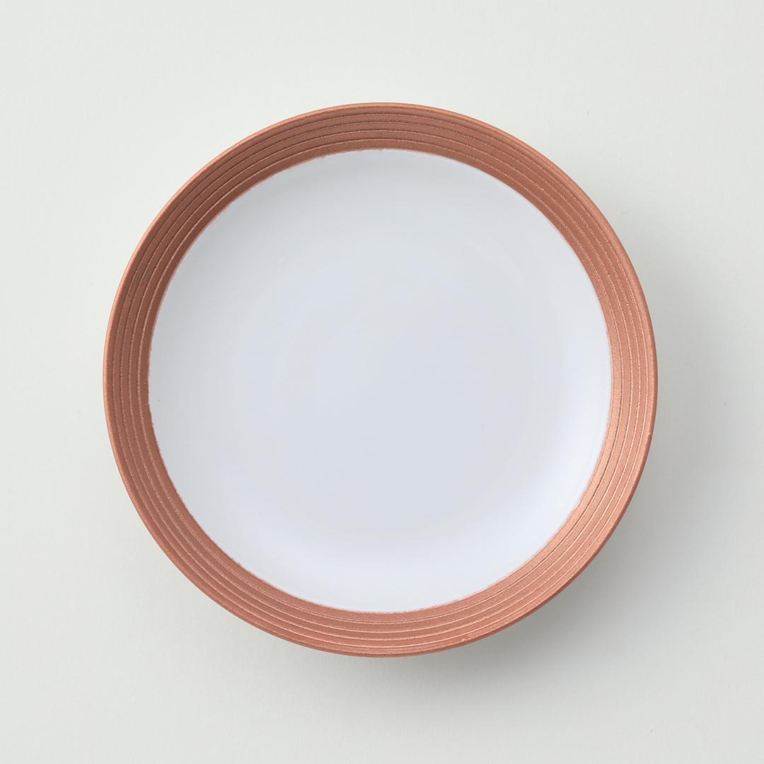 アイボリー線段カッパー豆皿
