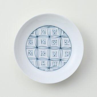 太白青色七宝豆皿