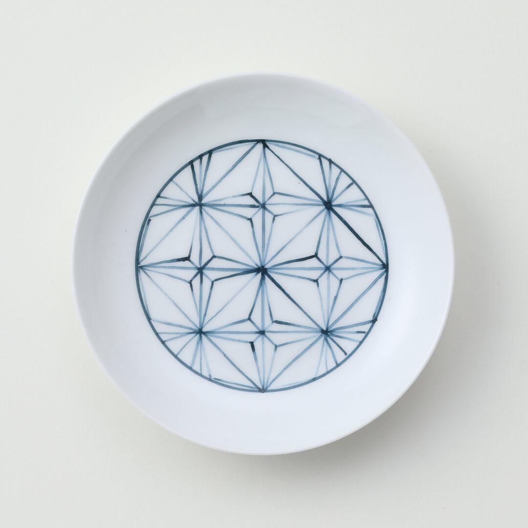 太白青色地紋豆皿