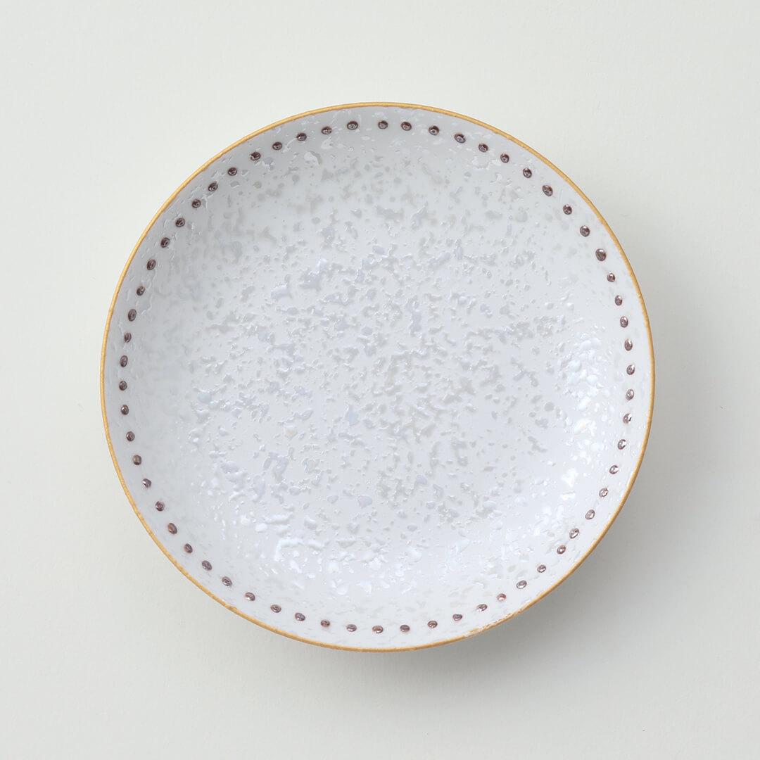 水玉茶ラスター豆皿