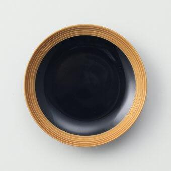 黒釉線段金豆皿