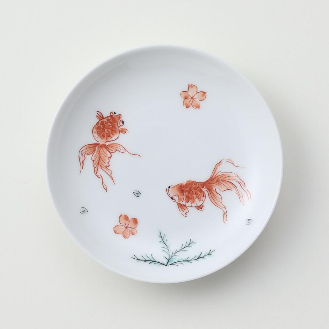 太白金魚豆皿