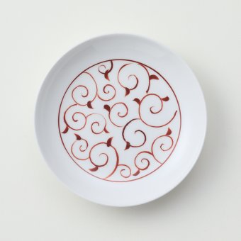 太白赤唐草豆皿