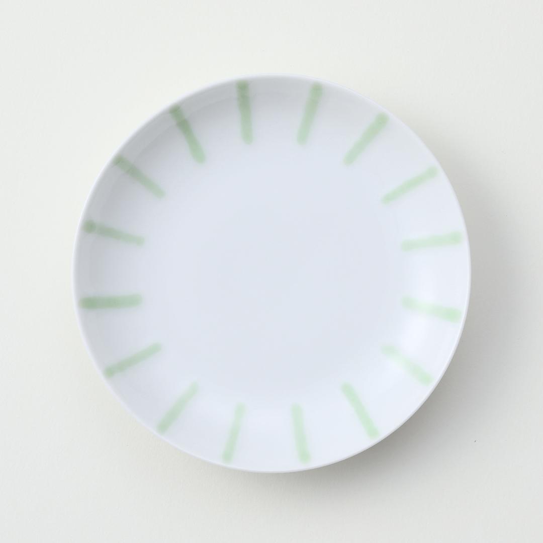 渕かき豆皿 グリーン