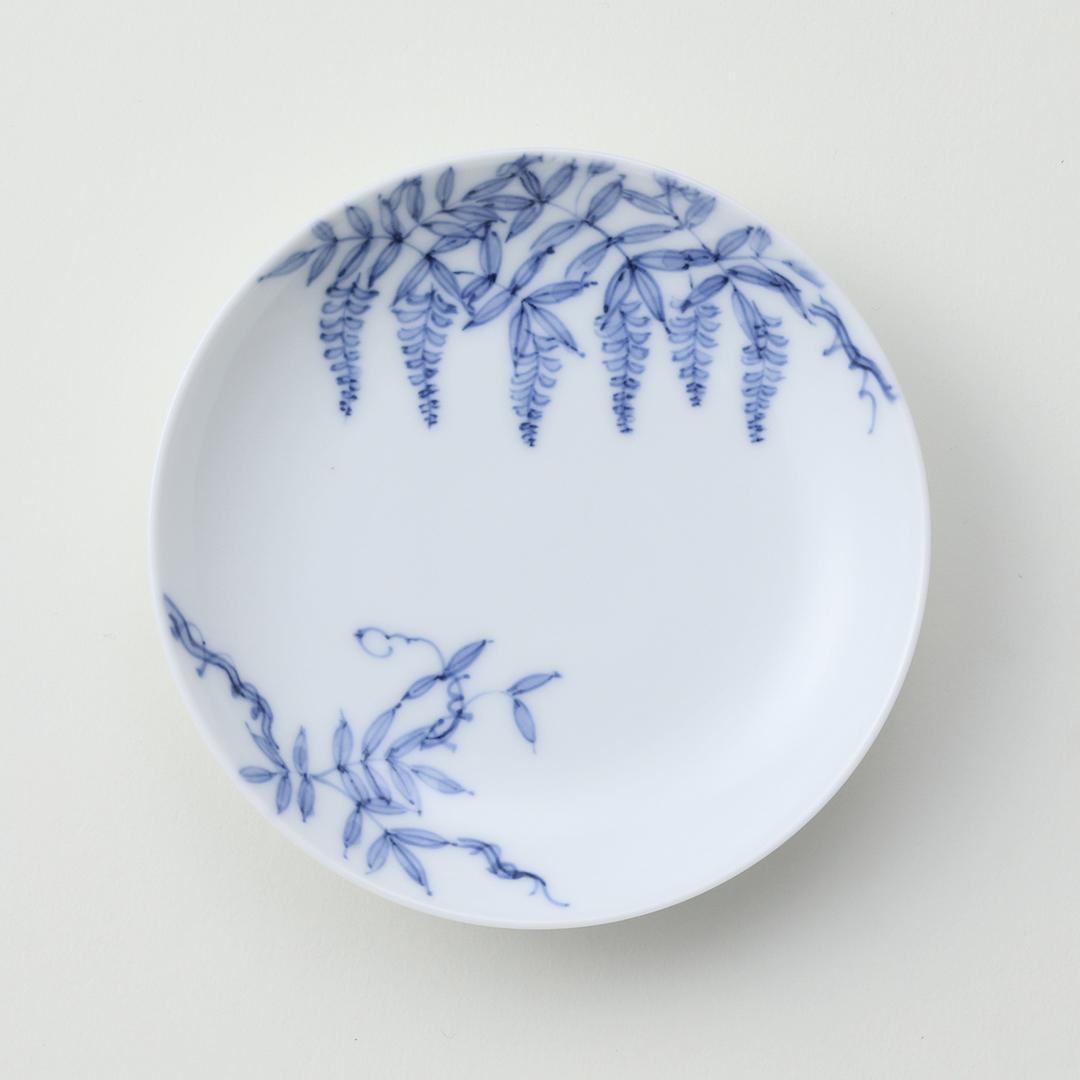 古平戸藤絵豆皿