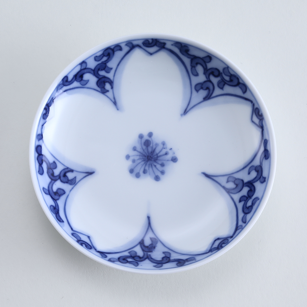桜唐草豆皿