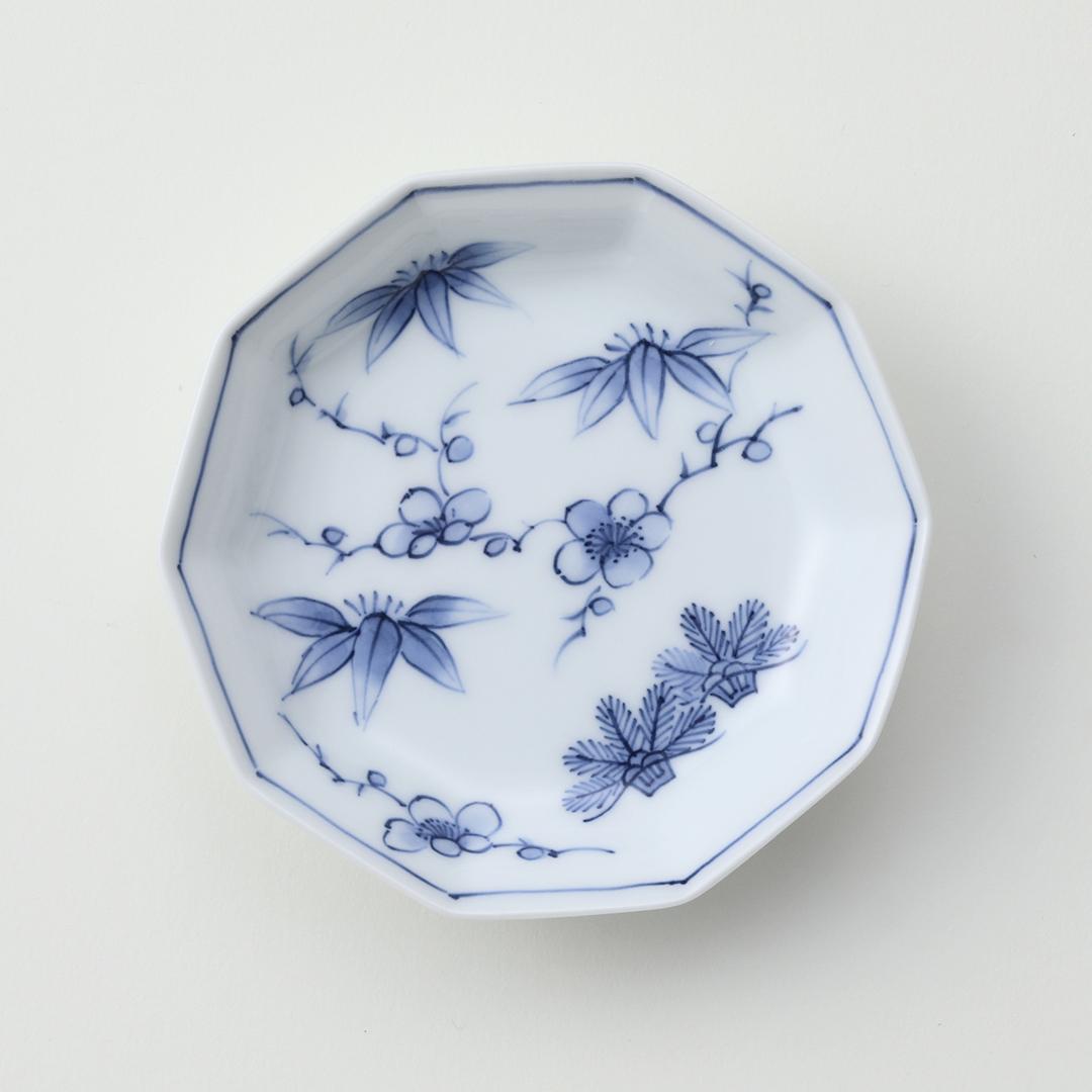 松竹梅豆皿