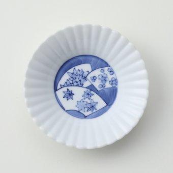 扇春秋豆皿